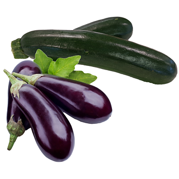 Courgette, aubergine of paprika
